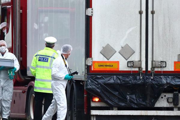 Container chở 39 nạn nhân.