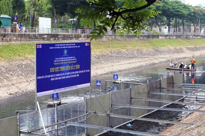 Thí điểm làm sạch sông Tô Lịch bằng công nghệ Nhật Bản đã thất bại