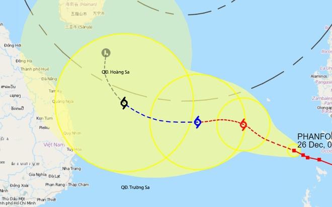 Theo dự báo sau 2 ngày quần thảo trên biển Đông, bão sẽ suy yếu thành áp thấp nhiệt đới.