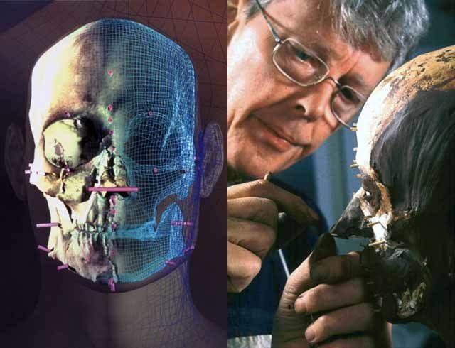 Từ hộp sọ được tìm thấy của người Semite, các nhà nghiên cứu tạo ra khuôn mặt. Ảnh: National Geographic Image.