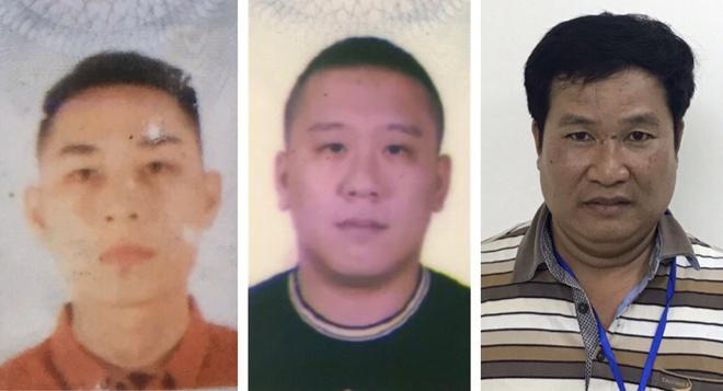 3 bị can Mai Tiến Dũng (áo đỏ), Nguyễn Bảo Trung (áo đen) và Phạm Văn Hiệp. Ảnh: Bộ Công an.