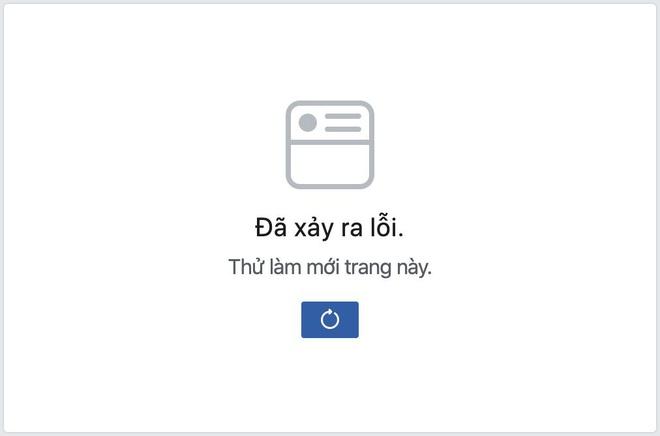 Facebook báo lỗi không thể làm mới bảng tin hay load ảnh.