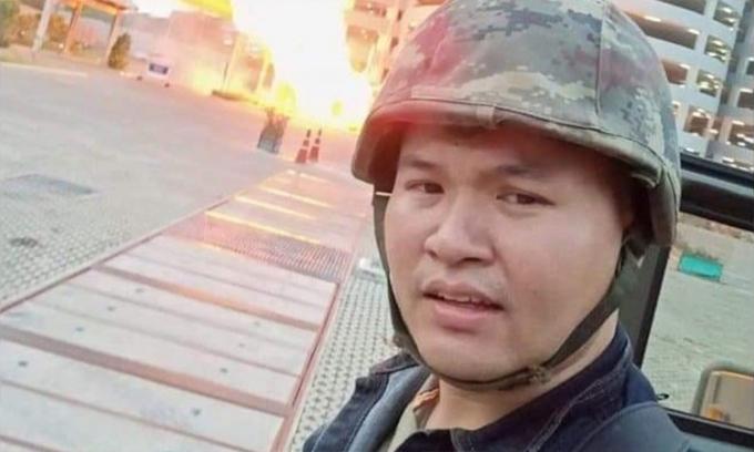Jakrapath Thomma, nhân viên quân khí Tiểu đoàn Quân khí 22 đóng quân tại căn cứ Suratham Phithak ở Nakhon Ratchasima.