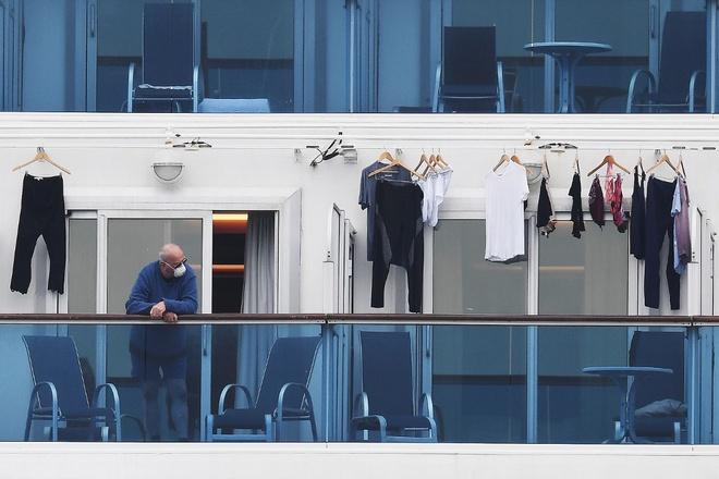 Du thuyền Diamond Princess đang bị cách ly. Ảnh: AFP.
