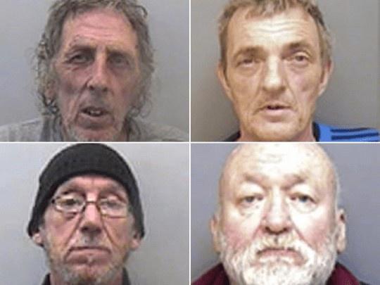 Bốn người đàn ông bị kết án. Ảnh: PA.