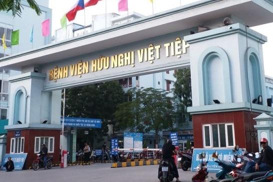Bệnh viện Hữu nghị Việt Tiệp đã tiếp nhận bố của bệnh nhân N.H.N. vào 23h đêm 6/3. Ảnh: V.L.