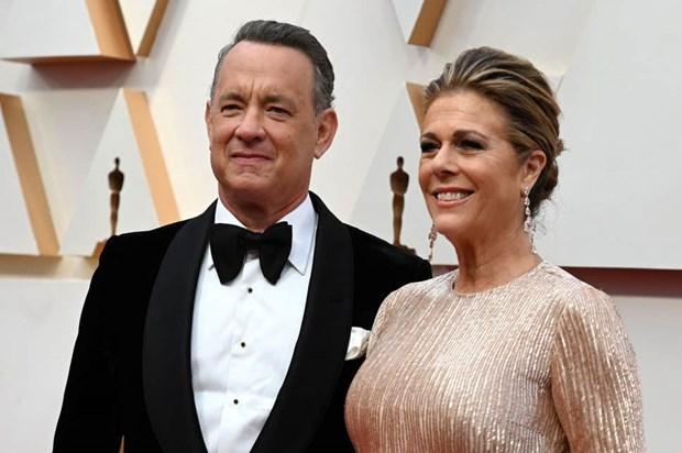 Vợ chồng tài tử Tom Hanks - nữ diễn viên Rita Wilson.