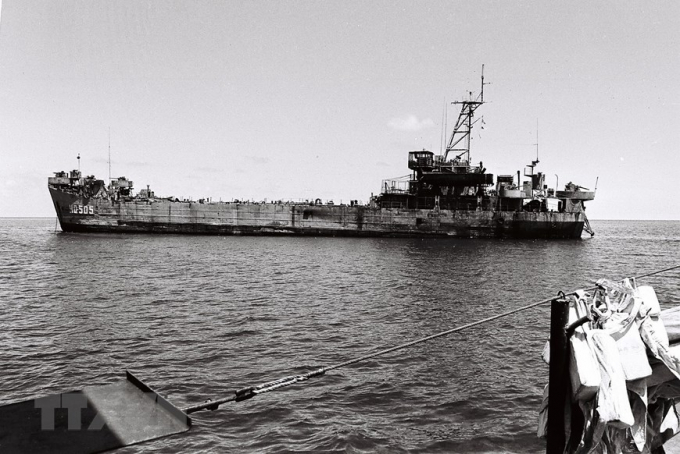 Con tàu HQ-505 do thuyền trưởng Vũ Huy Lễ đã