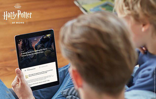 Người xem có thể truy cập trang web Harry Potter at home bằng máy tính bảng, điện thoại di động...