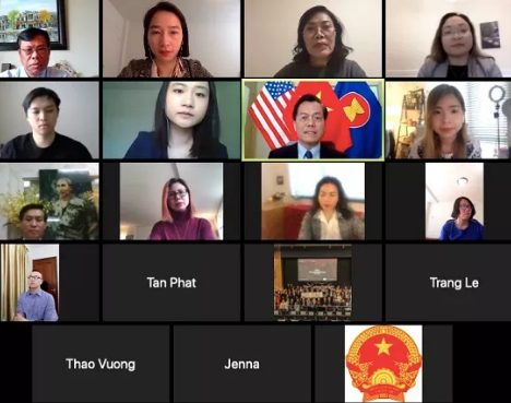Đại sứ Việt Nam tại Mỹ Hà Kim Ngọc trao đổi cùng Hội Thanh niên sinh viên Việt Nam tại Mỹ về tình hình dịch bệnh Covid-19