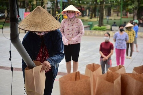 ATM gạo miễn phí ở Nghĩa Tân, Hà Nội tạm dừng hoạt động