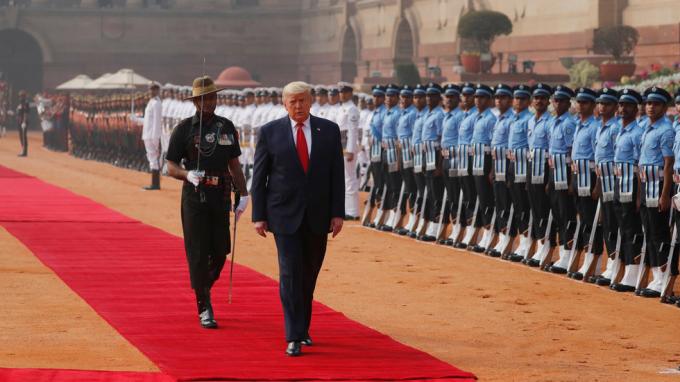 Tổng thống Mỹ Donald Trump trong chuyến thăm Ấn Độ tháng 2/2020. Ảnh: Reuters