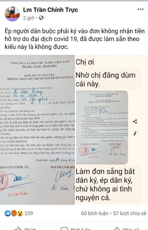 Thông tin lan truyền trên mạng mà ông Quang khẳng định là xuyên tạc, khiến ông rất bức xúc