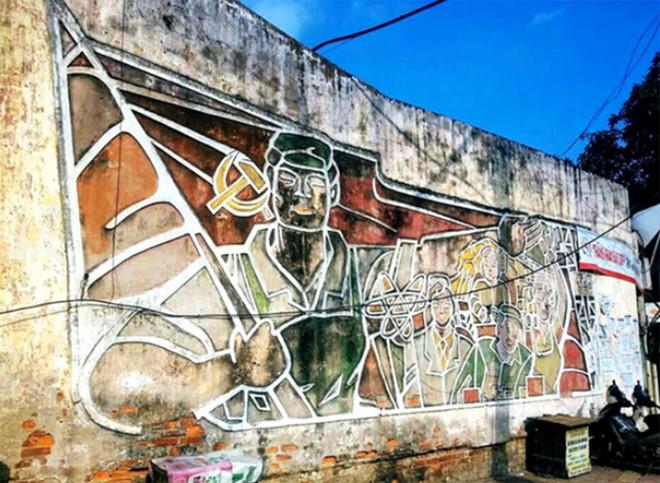 Bức tranh tường sắp được đưa về Q.Hoàn Kiếm.