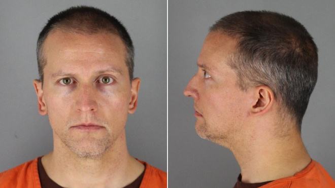 Derek Chauvin đã bị bắt giữ và truy tố giết người. Ảnh: CNN.