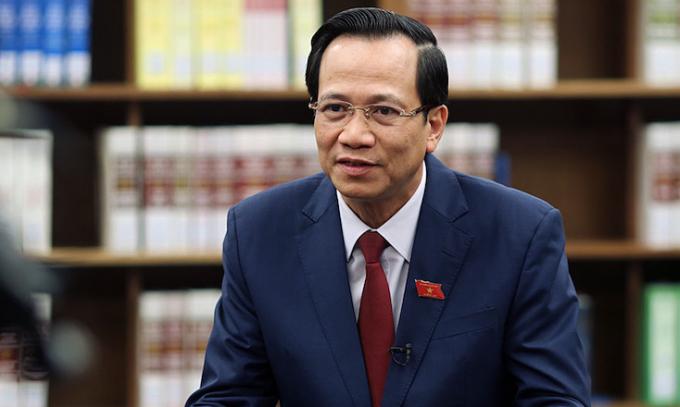Bộ trưởng Lao động, thương binh và xã hội Đào Ngọc Dung.