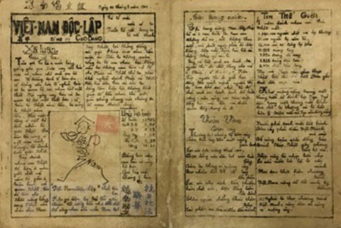 Sau gần 30 năm bôn ba ở nước ngoài, tháng 1/1941, Chủ tịch Hồ Chí Minh trở về Tổ quốc và sáng lập báo Việt Nam Độc lập (số đầu tiên được đánh số 101, ra ngày 1/8/1941) nhằm kêu gọi nhân dân đoàn kết vững bền cùng nhau cứu nước. (Ảnh: Tư liệu/TTXVN)