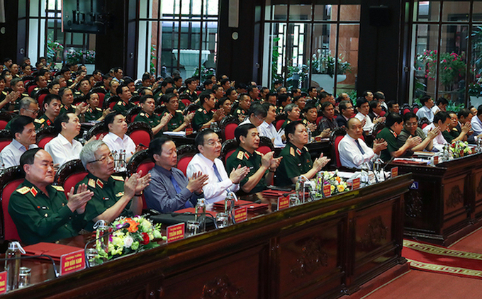Đại biểu dự Hội nghị Quân chính toàn quân ngày 24/6. Ảnh: Đức Anh