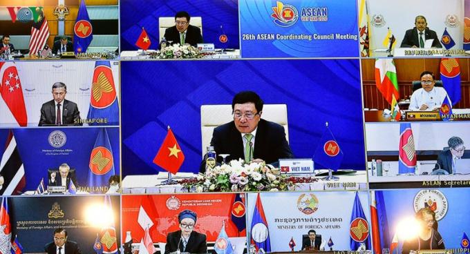Các đại biểu tham dự các Hội nghị lần này dưới hình thức trực tuyến do tác động của dịch Covid-19.
