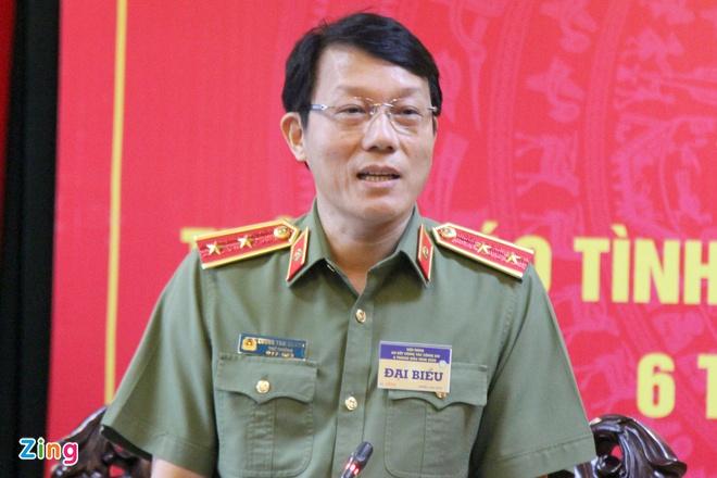 Trung tướng Lương Tam Quang nói về vụ án Nhật Cường chiều 25/6. Ảnh: Hoàng Lam.