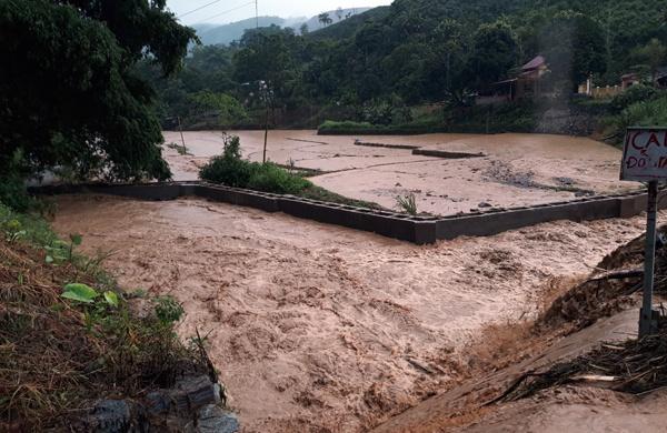 Mưa lớn ở Lào Cai khiến nhiều thửa ruộng bị ngập. Ảnh: Báo Lào Cai.