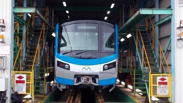 Do chuyên gia nước ngoài chưa được vào Việt Nam nên hiện đầu tàu Metro Số 1 nằm tại nhà máy ở Nhật Bản. Ảnh: MAUR.