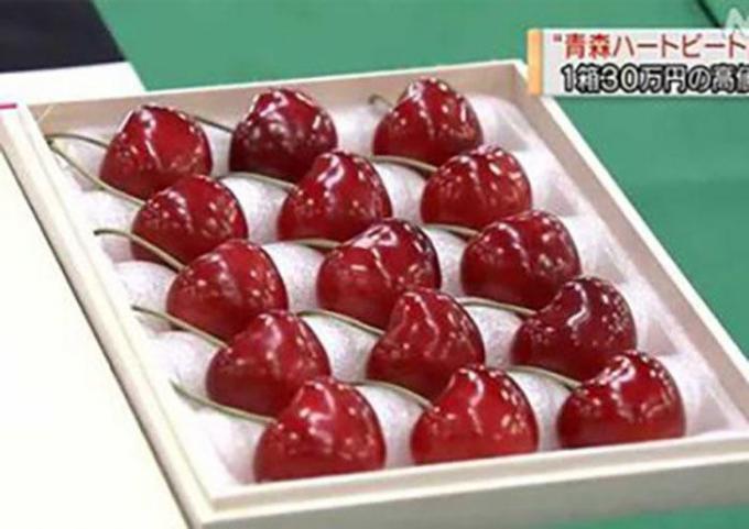 Một khay cherry
