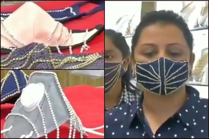 Ấn Độ: Khẩu trang đính kim cương, vàng trị giá hàng nghìn đô được săn lùng
