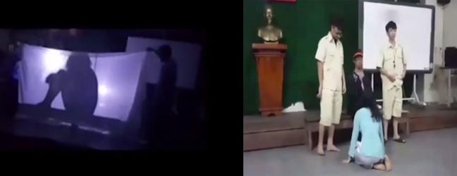 Học sinh của thầy giáo Đạt tái hiện những cảnh