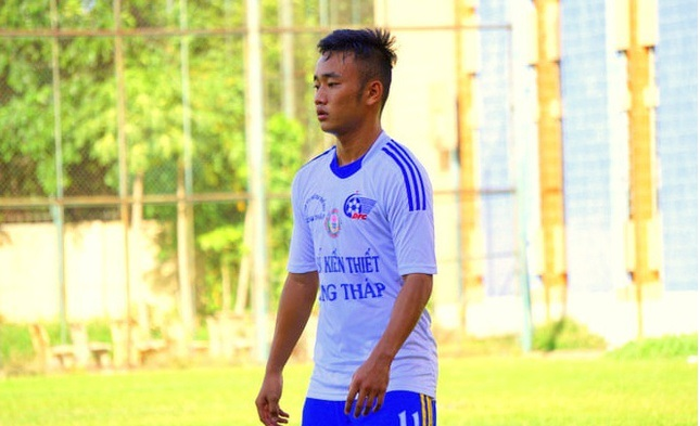 Cầu thủ Huỳnh Văn Tiến.
