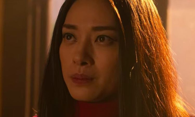 Ngô Thanh Vân trong cảnh cuốicủa phim.