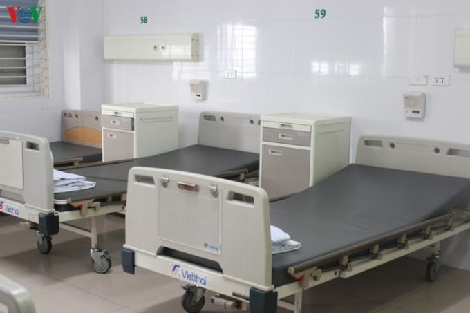 Giường bệnh cho bệnh nhân điều trị Covid-19.
