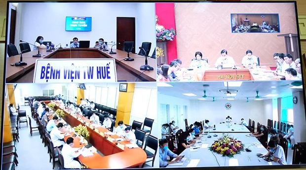 Toàn cảnh buổi họp giao ban sáng 5/8. Ảnh: Trần Minh (Bộ Y tế).