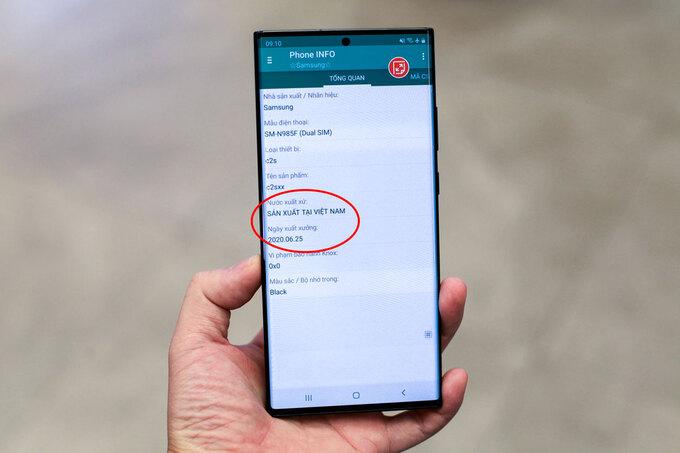 Thông tin bộ đôi Samsung Galaxy Note20 và Note20 Ultra sản xuất ở Việt Nam.