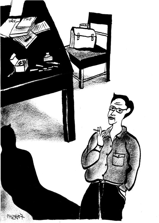 Minh họa của Đào Hải Phong cho truyện Sống dễ lắm.