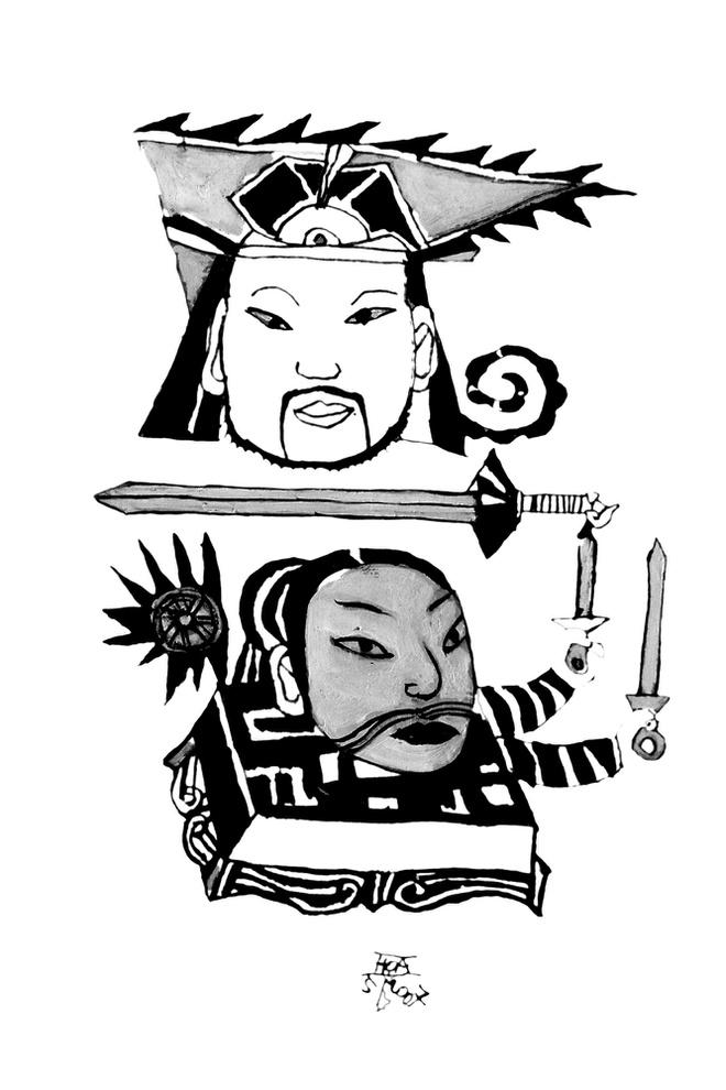 Tranh minh họa truyệnKiếm sắccủa Đặng Xuân Hòa từng xuất hiện ở ấn bản 2007, tiếp tục có mặt trong ấn bản 2020.