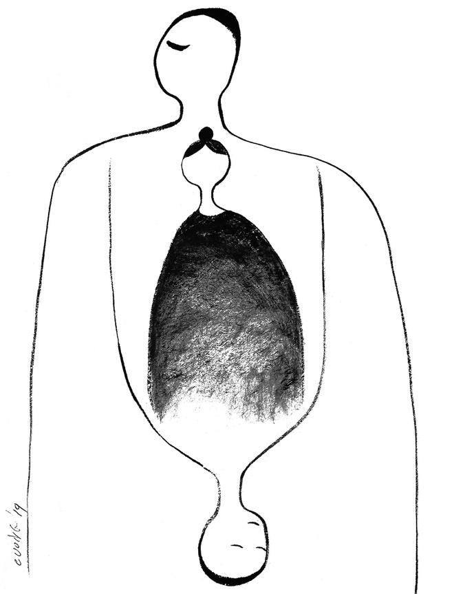 Minh họa của Lê Thiết Cương cho truyện Giọt máu.