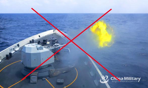 Tàu Trung Quốc trong một đợt tập trận ở Biển Đông vào tháng 3/2020. Ảnh: China Military