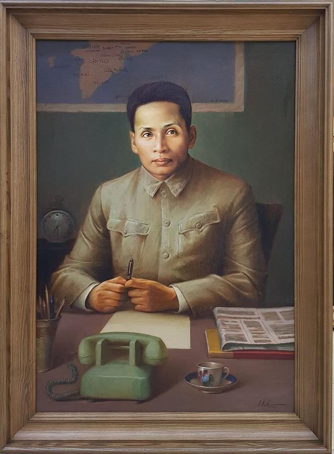 Tranh chân dung cố Thủ tướng - Bộ trưởng Ngoại giao Phạm Văn Đồng (họa sĩ Lê Thế Anh)