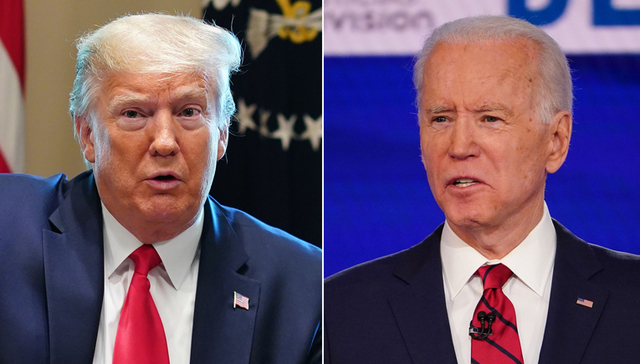 Tổng thống Donald Trump (trái) và cựu phó Tổng thống Joe Biden (Ảnh: Getty)