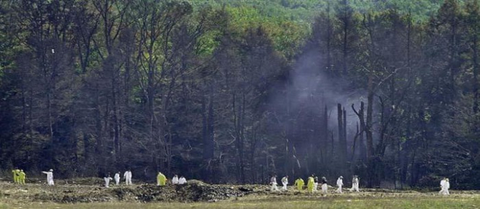 Chuyến bay 93 của United Airlines lao xuống một cánh đồng gần Shanksville, Pennsylvania. Ảnh: History.com