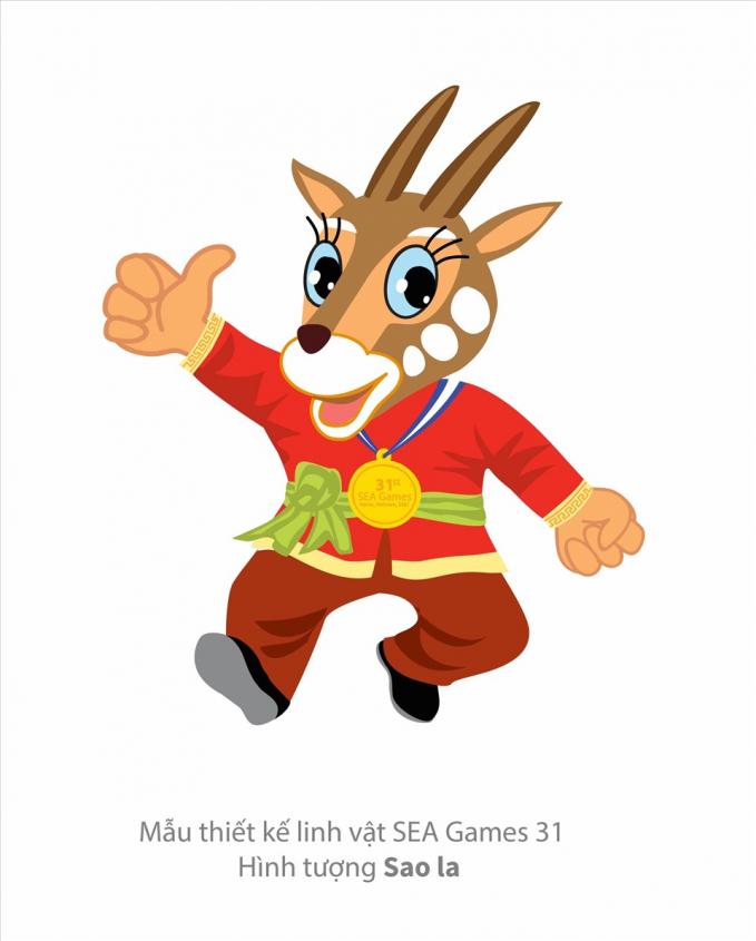Sao la có thể sẽ là linh vật chính thức của SEA Games 31