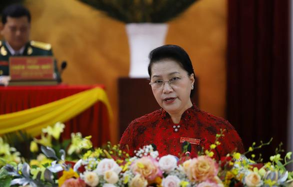 Chủ tịch Quốc hội Nguyễn Thị Kim Ngân phát biểu chỉ đạo Đại hội Đảng bộ TP Cần Thơ sáng 24-9 - Ảnh: CHÍ QUỐC