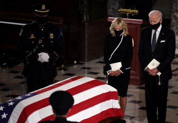 Ứng viên tổng thống đảng Dân chủ Joe Biden tại buổi lễ