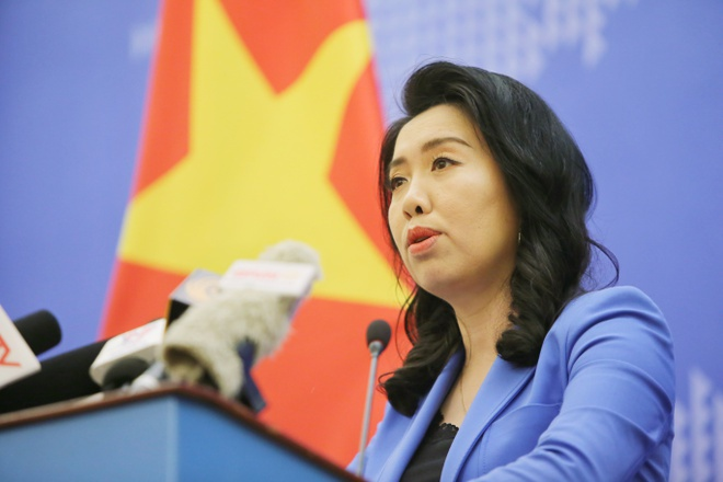 Người phát ngôn Bộ Ngoại giao Lê Thị Thu Hằng. Ảnh: Việt Linh.