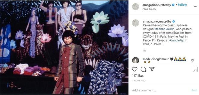 Làng thời trang bày tỏ sự thương tiếc trước sự ra đi của nhà thiết kế Kenzo Takada