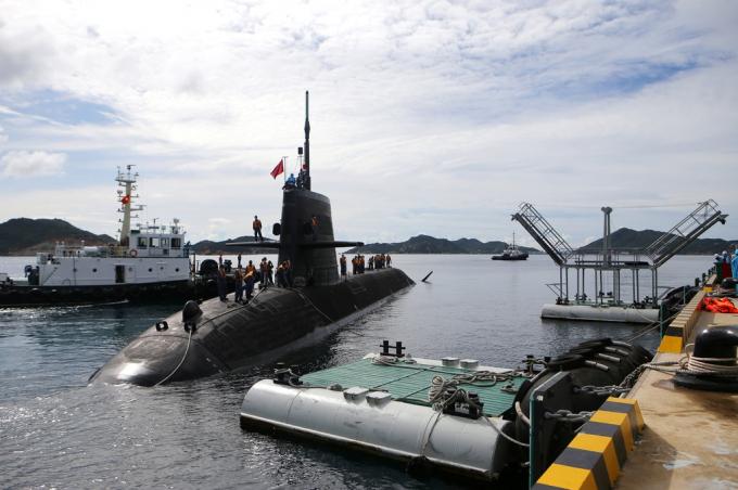 Ba tàu chiến hạm Nhật Bản cập cảng Cam Ranh để làm công tác hậu cần kỹ thuật