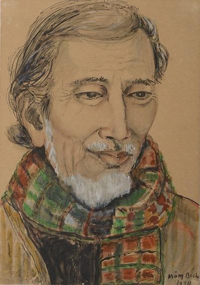 Một trong những bức tranh của họa sĩ Mộng Bích.
