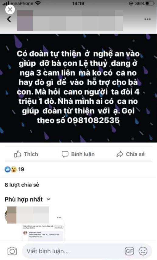 Nhiều đoàn cứu trợ liên tục kêu cứu vì bị hét giá thuê thuyền ở Quảng Bình
