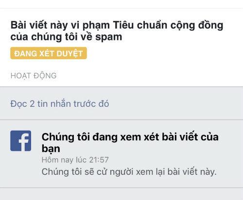 Nhiều người Việt phản ánh về việc bị cấm đăng bài bán hàng lên Facebook